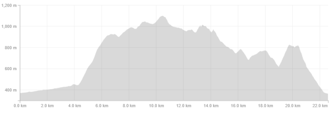 Elevation Profile from Strava