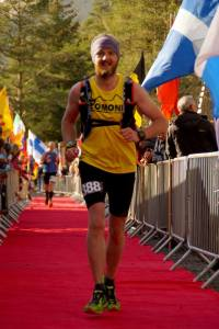 Me finishing the 2015 Highland Fling