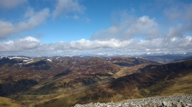 View from Creag Leacach as the clouds cleared