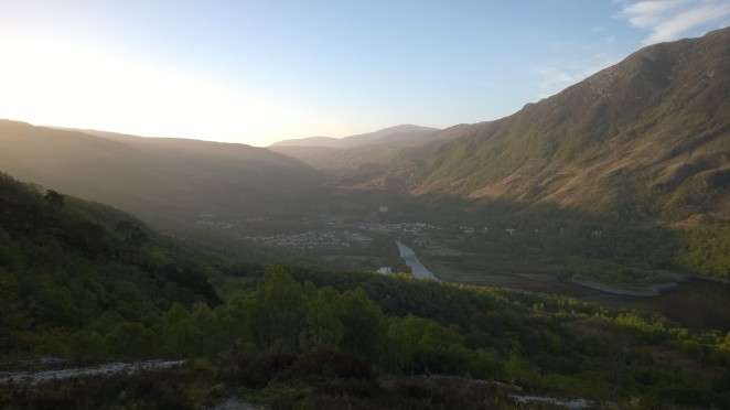 Kinlochleven in the early morning sun