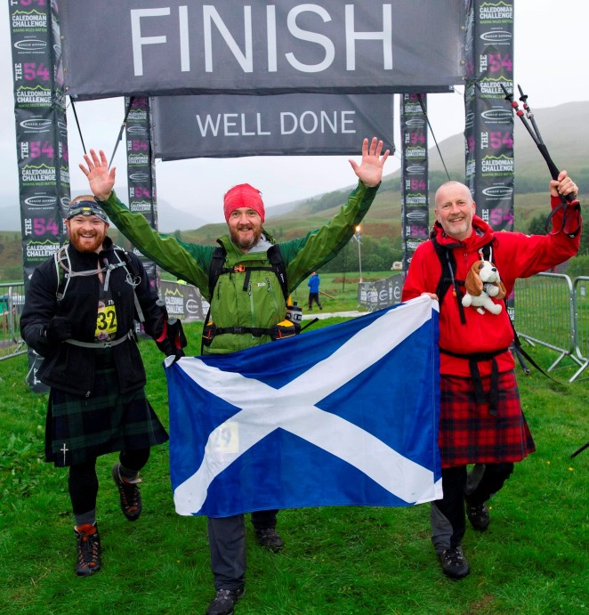 Delighted to have finished the Caledonian Challenge
