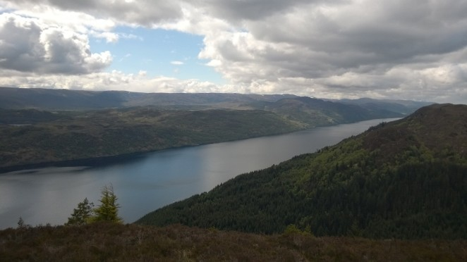 Looking down Loch Ness from the Great Glen Way