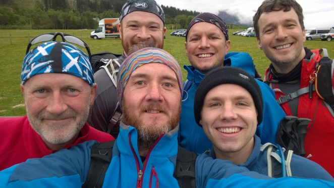 Start line team selfie