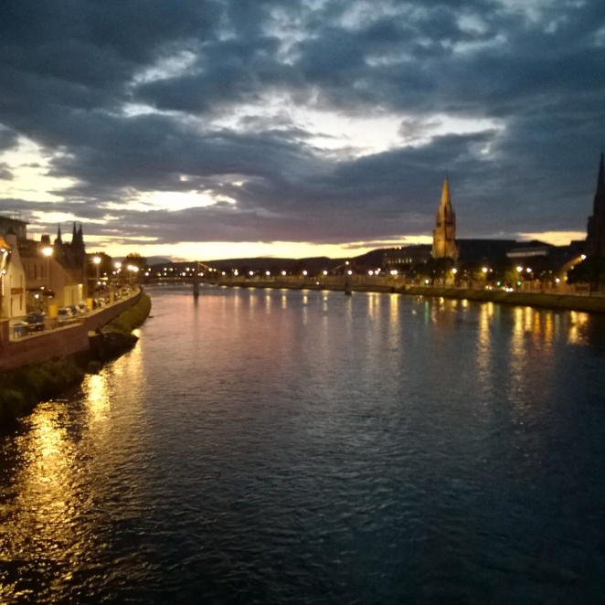 Inverness looking great in the twilight