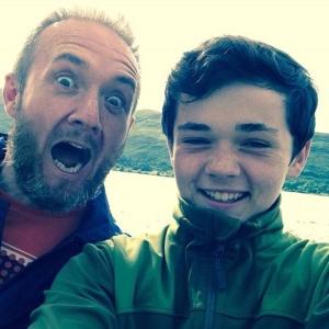 Crazy dad photo-bombs Joe's selfie