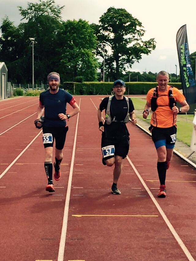 Me, Stephen and Derek in a sprint finish