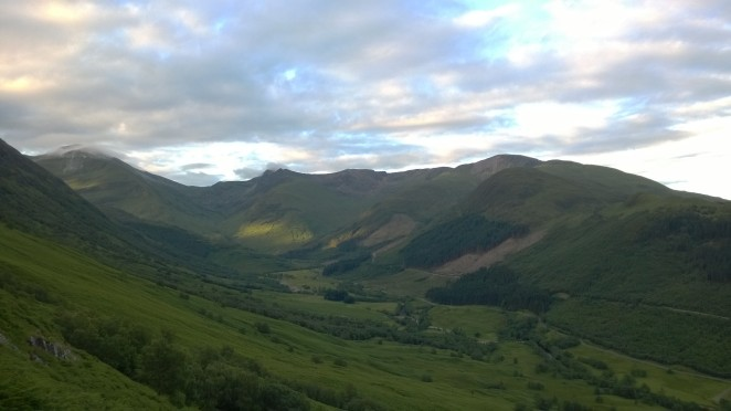 Glen Nevis in the early sunshine