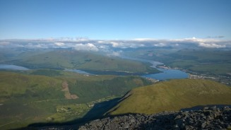 Looking back down towards Fort William