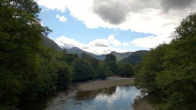 View up the Glen from the suspension bridge