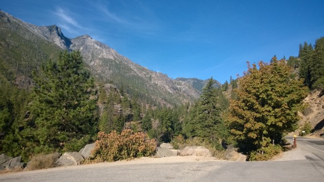 View from my start point in Snow Lake Trail Head car park