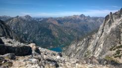 Looking back down Aasgard Pass towards Colchuck