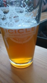 Icicle Brewery Pale Ale....or what's left of it.