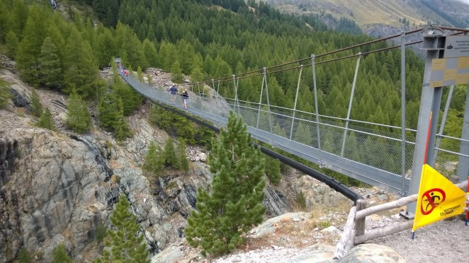Furi suspension bridge - yes, it does move!