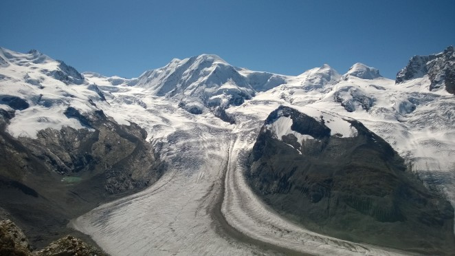 Monte Rosa and the glacier from Gornergrat
