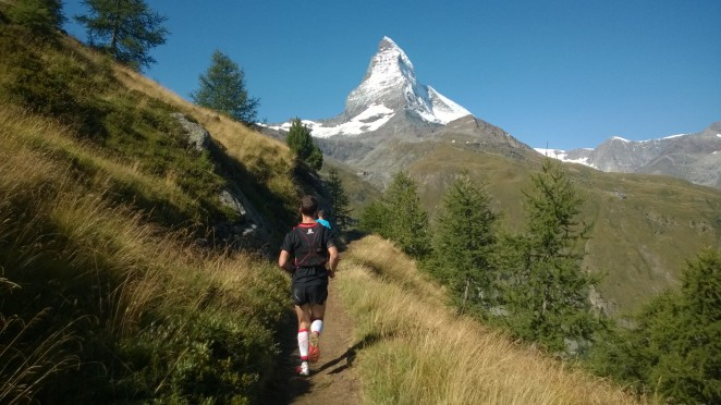 Heading towards Furi with the Matterhorn cheering us on