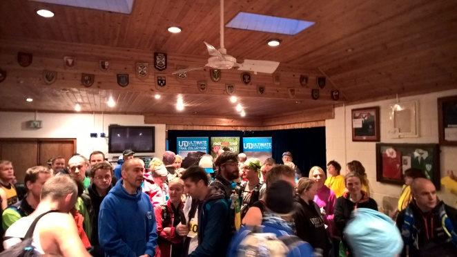 Pre-race briefing in the rugby club - my only photo of the day!