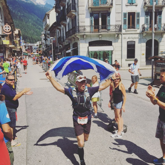 Why would you not want to experience this feeling? - Giles Ruck finishing UTMB in style