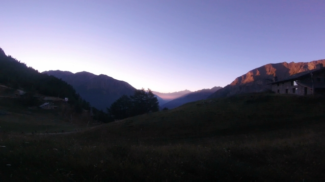 Sunrise over Val d'Aosta