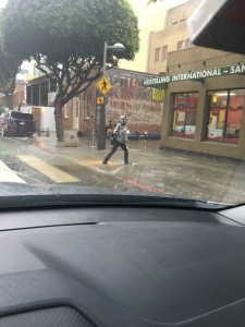 Flash flooding in Santa Monica